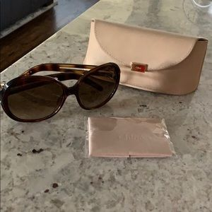 Chloe sunglasses with case and cloth!